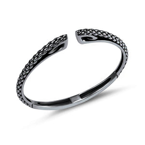 Sceptre Python Cuff in Black Ruthenium over Sterling Silver