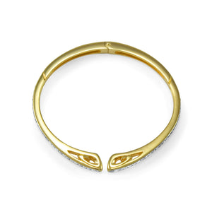 Sceptre Pavé Cuff in 18K Gold over Sterling Silver & CZ Blanc
