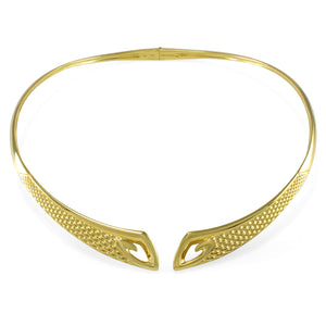 Sceptre Python Collar in 18K Gold over Solid Sterling Silver