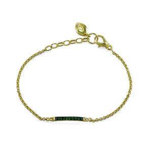 Sceptre Linea Chain Bracelet in 18K Gold over Sterling Silver & CZ Vert