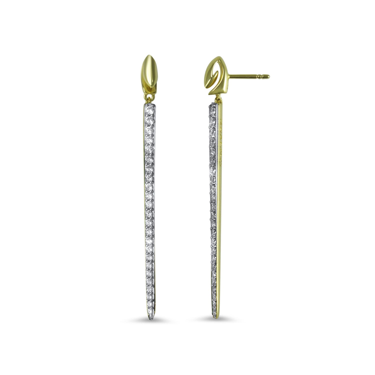 Realm Sceptre Linea Signature Blanc Exclamation Earring zkhp2jYiek