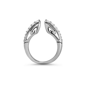 Sceptre Páve Stack Ring 2.0 in Sterling Silver & CZ Blanc