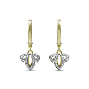 Domain Vanity Charmed Pavé Earring in 18K Gold over Sterling Silver & CZ Blanc