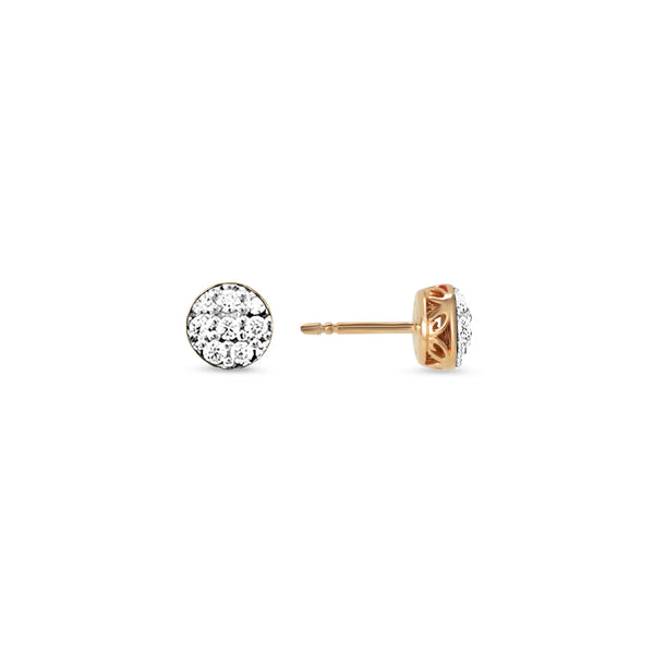 Empire Pavé Circle Stud Earring