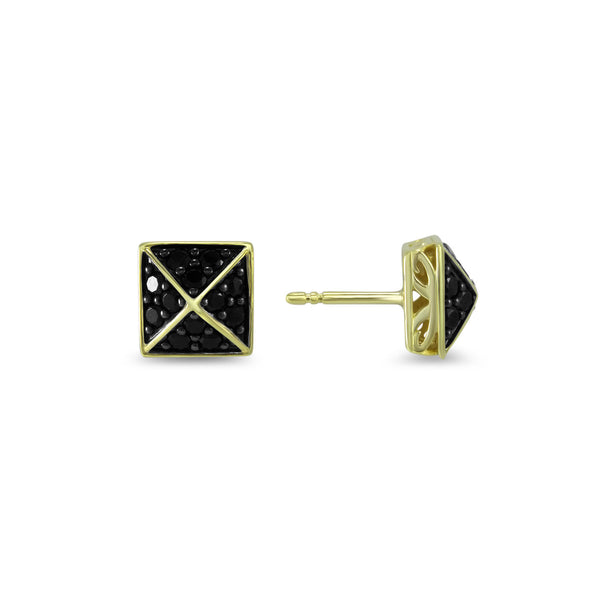 Empire Pavé Square Stud Earring