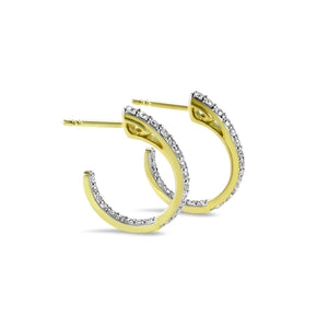 Sceptre Petite Pavé Hoop Earring in 18K Gold over Sterling Silver & CZ Blanc