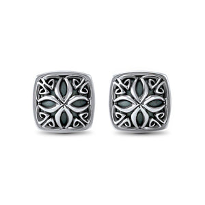 Insignia Signature Medallion Earring in Sterling Silver