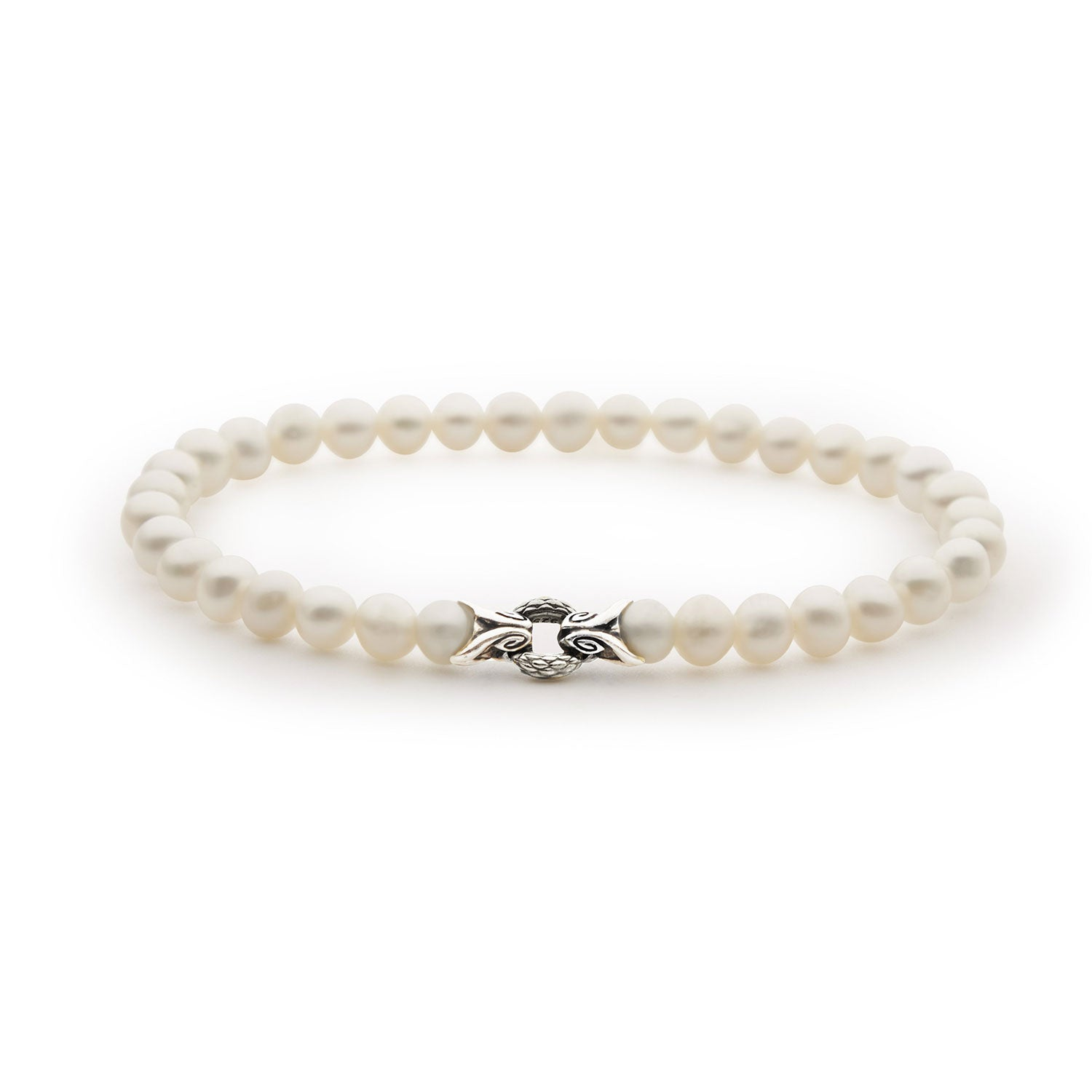 Empire Bond Bracelet –– Pearl + Silver