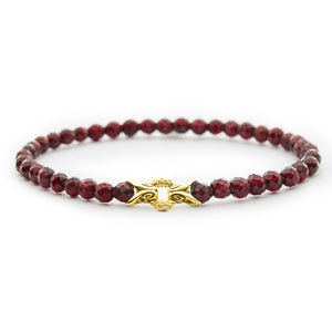 EMPIRE BOND BRACELET––GARNET
