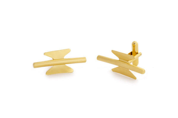 Gold Cufflinks - Welcome Jewelry - Amarist Studio