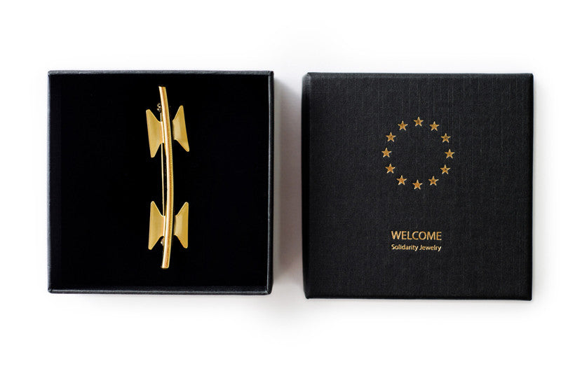 Gold Brooch - Welcome Jewelry - Amarist Studio