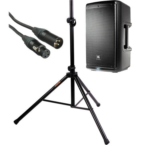 "15"" Powered Speaker w/stand"