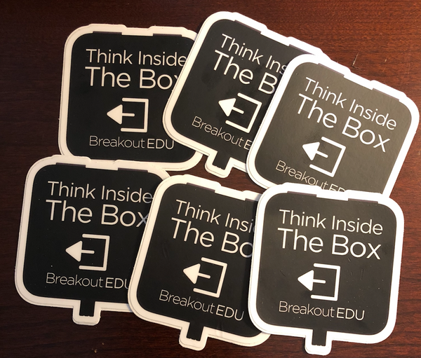 "Breakout EDU ""Think Inside the Box"" Stickers"