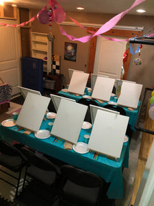 Host your Own DIY Painting Birthday Party!