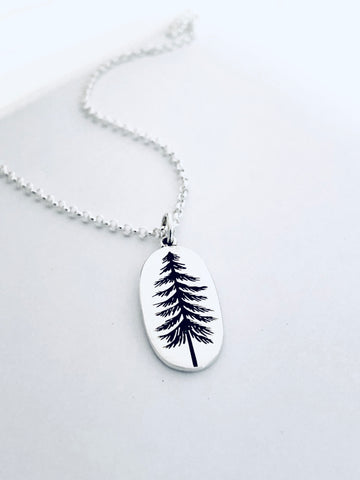 Sterling Silver West Coast Inspired Tree Necklace