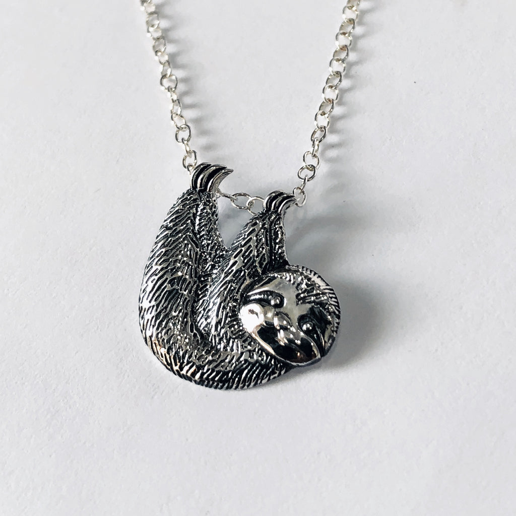 little silver listing necklace sterling pendant sloth fullxfull il zoom charm or fieg