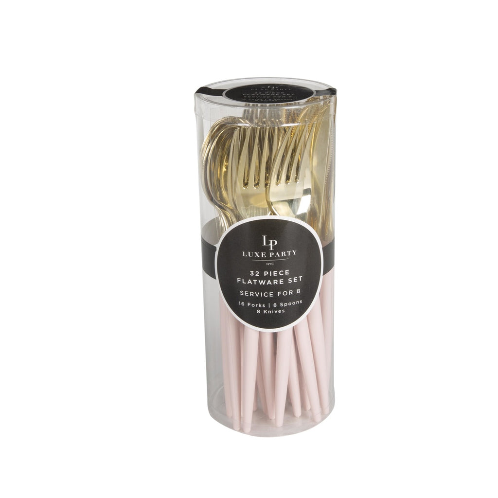 Blush and Gold Cutlery Pack 32 Pieces