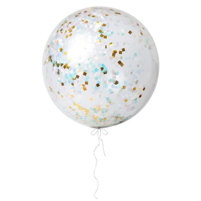 Iridescent Giant Confetti Balloon kit (3 pack)