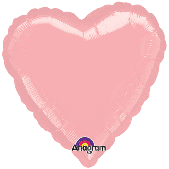 Pastel Pink Heart Balloon 36""