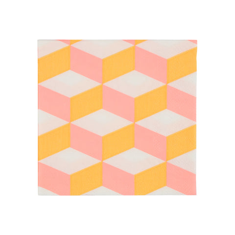 Blush Cubic Small Napkins