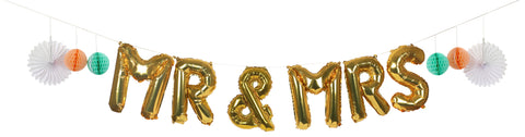 Mr & Mrs Balloon Kit Garland