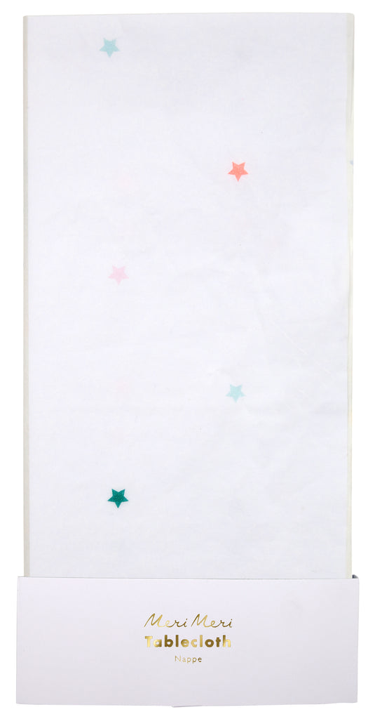 Multicolor Stars Tablecloth