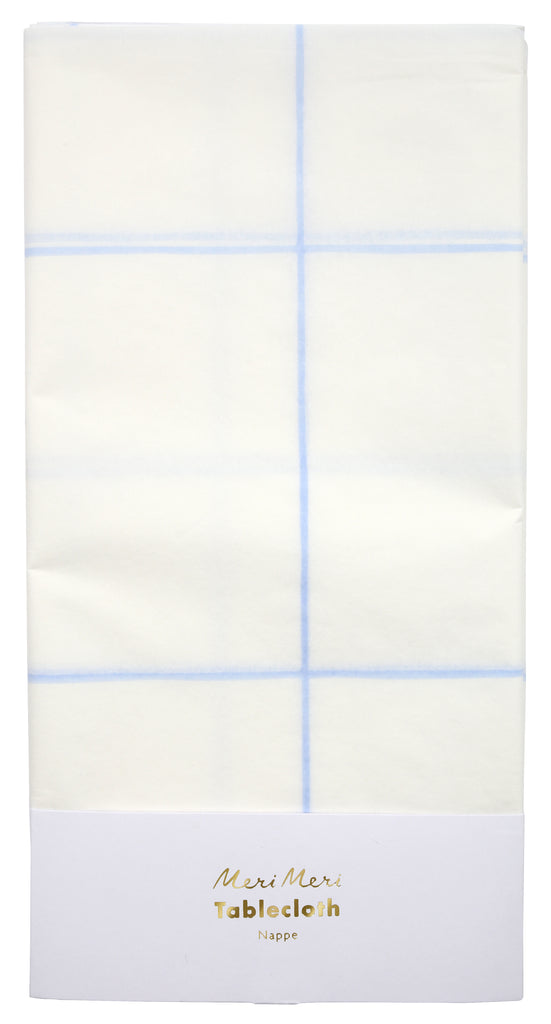 Blue Grid Tablecloth