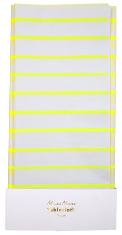 Yellow Stripe Tablecloth