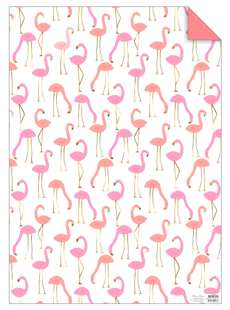Flamingo Gift Wrap Sheet