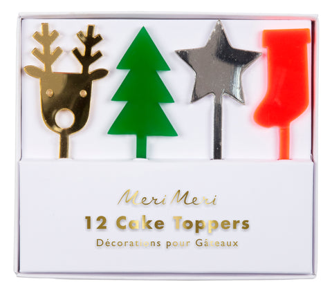 Festive Acrylic Cake Toppers