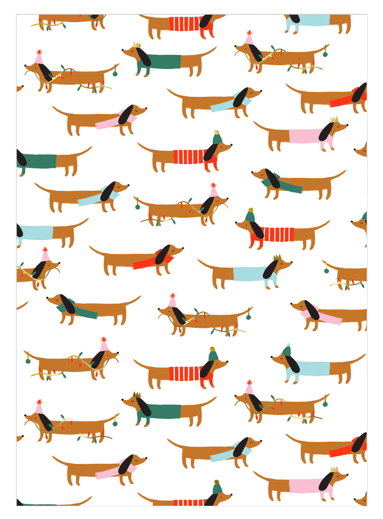 Sausage Dog Gift Wrap Roll