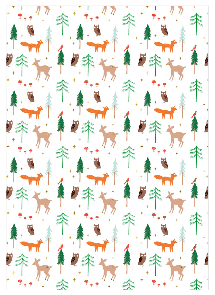Woodland Gift Wrap Roll