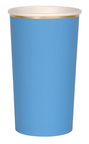 Bright Blue Highball Cups