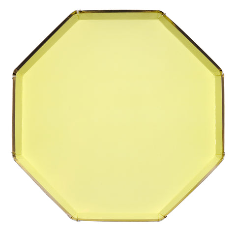 Pale Yellow Dinner Plates