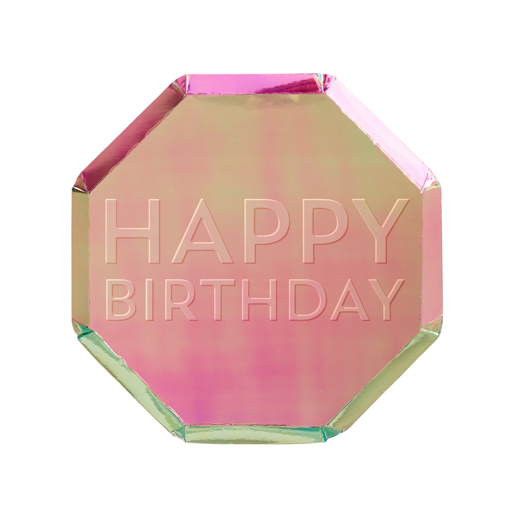 Birthday Oil Slick Side Plates