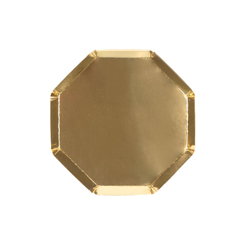 Gold Cocktail Plates