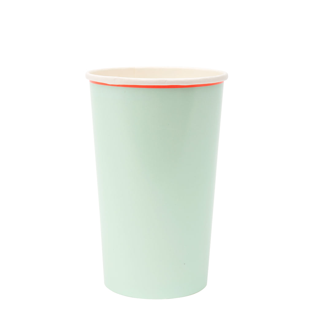 Large Pastel Highball Cups
