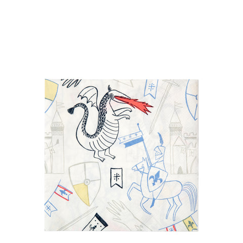 Dragon & Knights Large Napkins