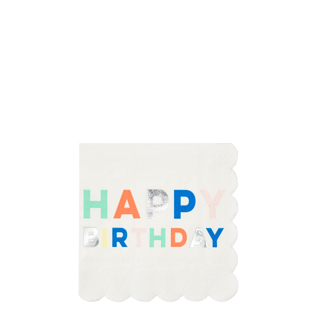 Birthday Palette Small Napkins