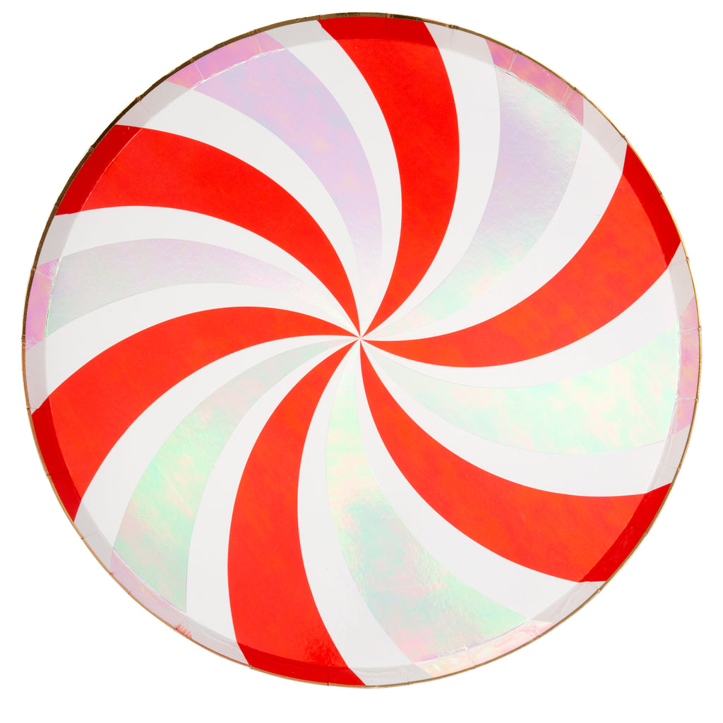 Peppermint Swirl Dinner Plate