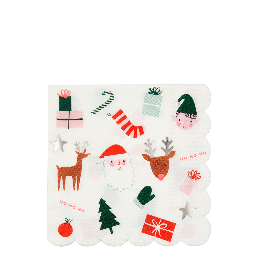 Christmas Fun Large Napkin