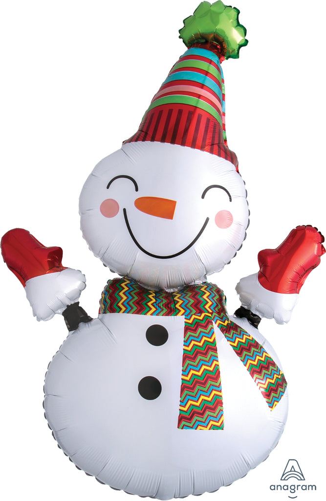 Smiley Snowman Balloon