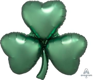 Satin Emerald Shamrock Balloon