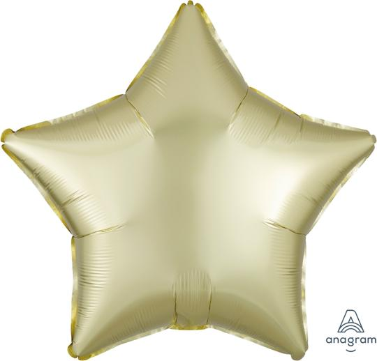 Satin Luxe Pastel Yellow Star Balloon 22""