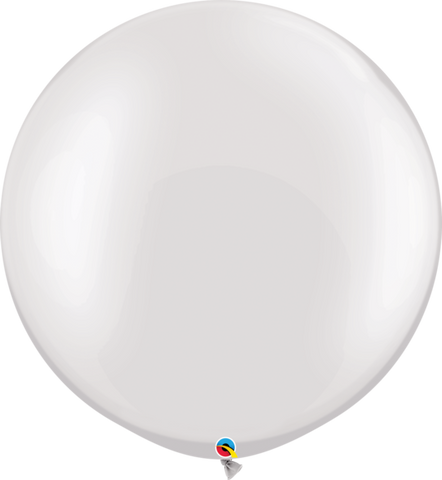 Pearl White Latex balloon 36""