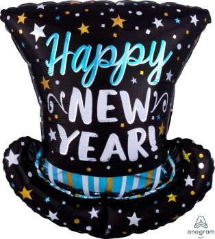 Infused Top Hat New Year Balloon