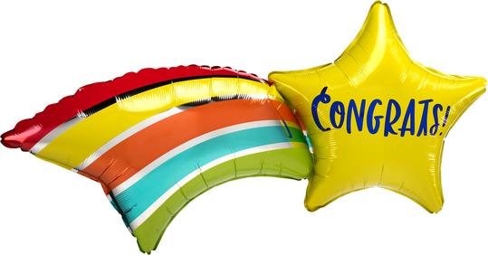Congrats Shooting Star Balloon