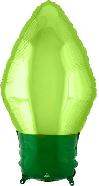 Green Christmas Light Bulb Balloon
