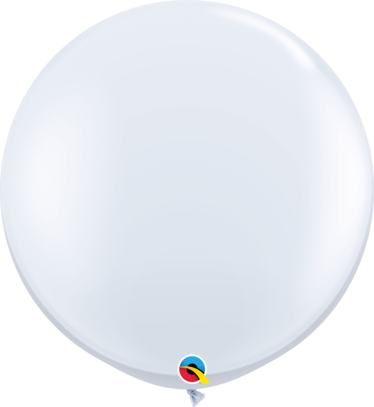 White Latex balloon 36""