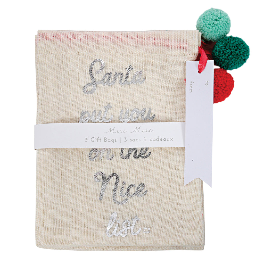 3-Pack Sack Gift bags